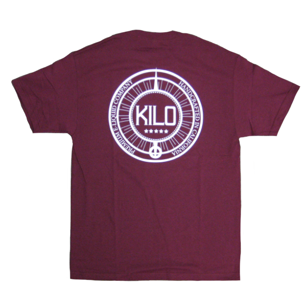 Kilo - Label T-shirt - maroon - back