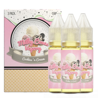 45mL - Milky Cones - Cookies' n Cream - 3pack
