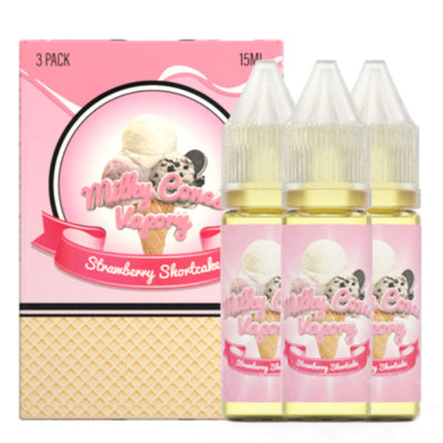 45mL - Milky Cones - Strawberry Shortcake - 3pack