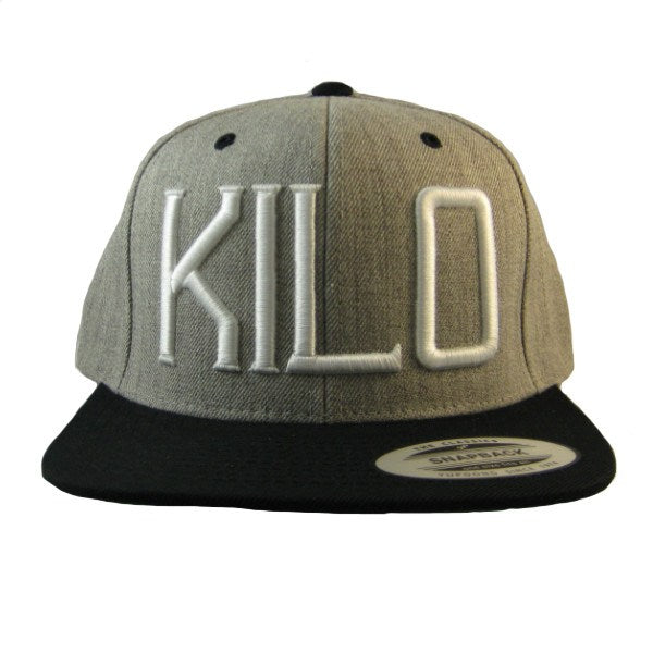 Kilo Label Snapback Hat gray/black