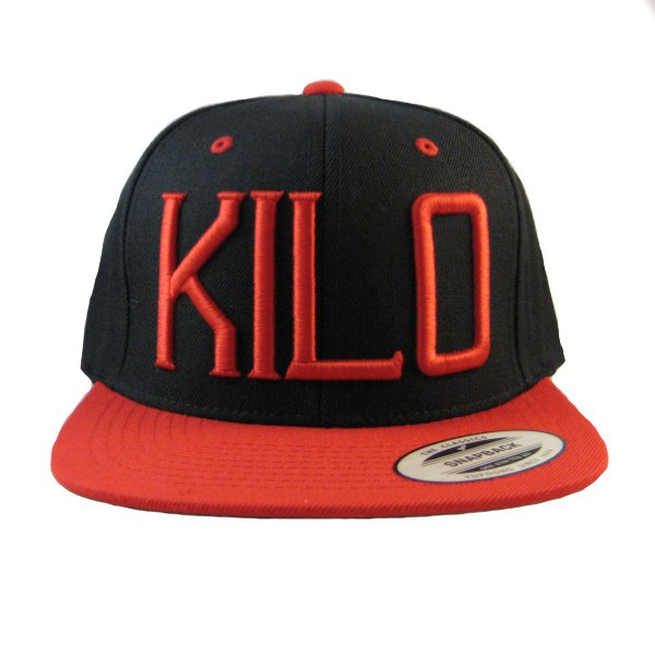 Kilo Label Snapback Hat black/red