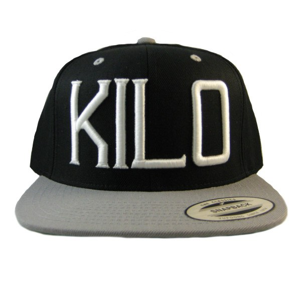 Kilo Label Snapback Hat black/gray