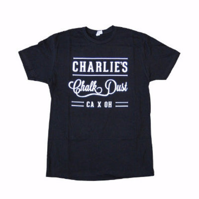 Mens T-shirts - Charlie's Chalk Dust - Label T-shirt - Black