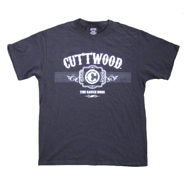 Mens T-shirts - Cuttwood - Label T-shirt - Black