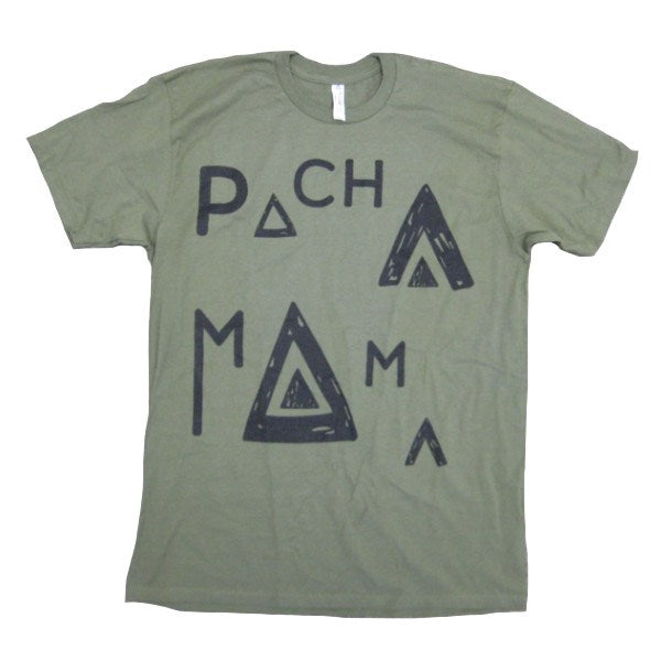 Mens T-shirts - Pachamama - Label T-shirt - Army Green