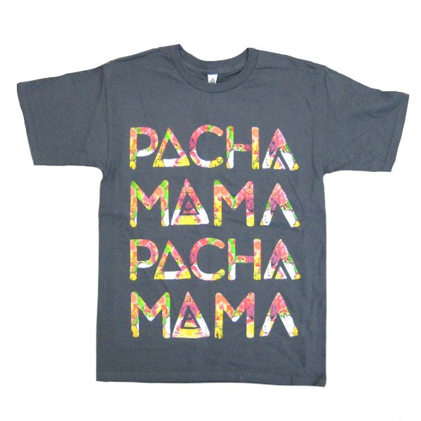 Mens T-shirts - Pachamama - Label T-shirt - Slate Gray