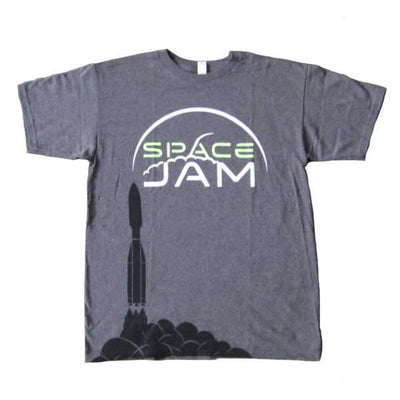 Mens T-shirts - Space Jam - Label T-shirt - Gray