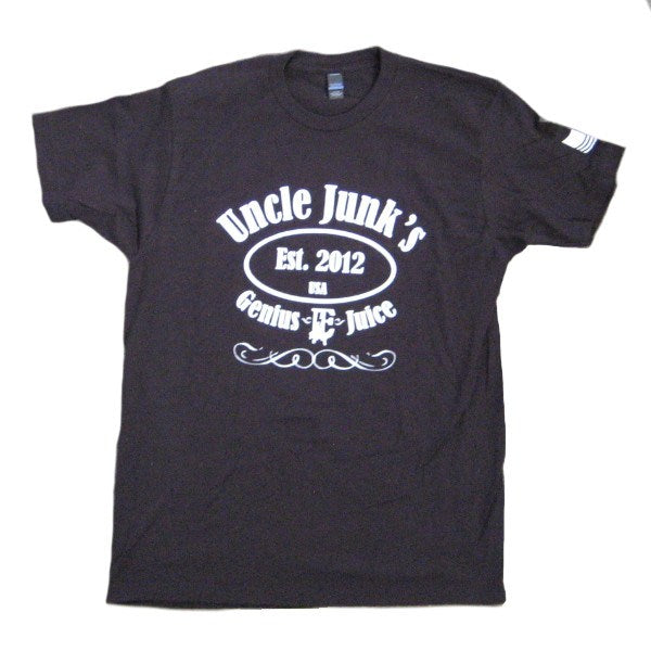 Mens T-shirts - Uncle Junks - Label T-shirt - Black