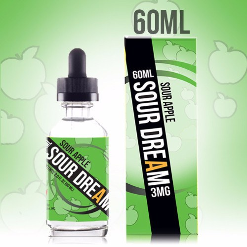 Vape Juice - 60mL Sour Dream - Sour Apple