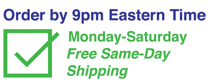 Free Same Day Shipping Guaranteed