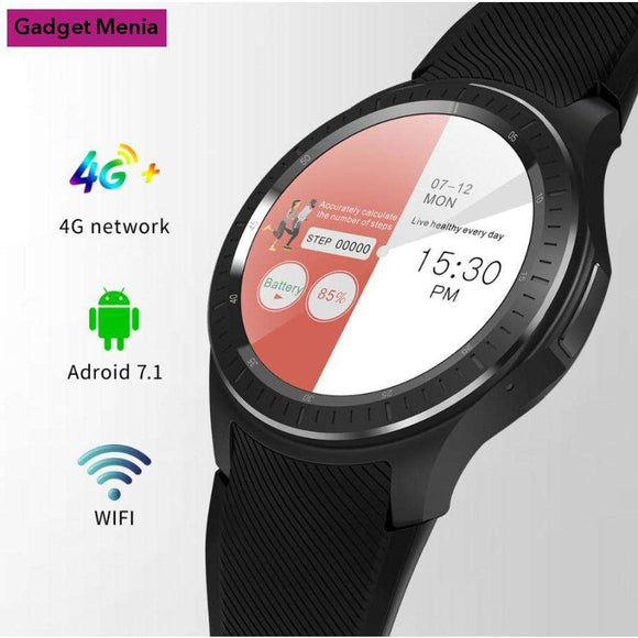 Android Smart Watch With 4G, WiFi, GPS, Bluetooth, Android OS  | Gadget Menia