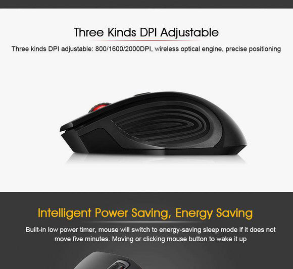Buy 4 Buttons Wireless Mouse For Laptop Computer | Gadget Menia