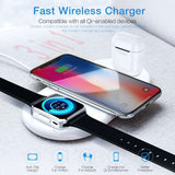 Buy 3 in 1 Wireless Charger For Apple iPhone,Watch And Air-pods | Gadget Menia