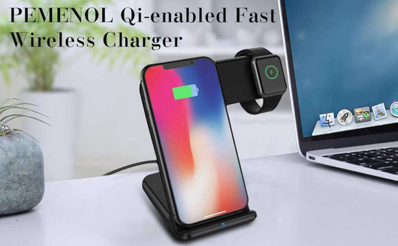 Buy Wireless Charger Holder for Apple Watch And IPhone | Gadget Menia