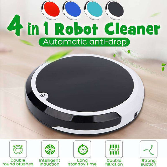 Buy 4 in 1 Robot Vacuum Cleaner | Gadget Menia