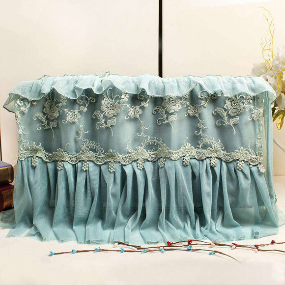 Buy Embroidery Lace Microwave Oven Cover WaterProof 2019 | Gadget Menia