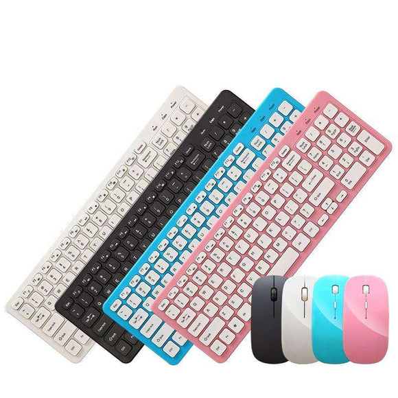 Buy Colorfully Wireless Keyboard + Mouse 2019 | Gadget Menia