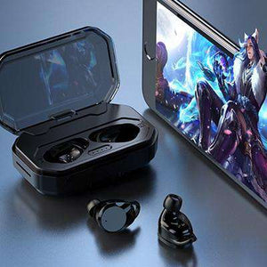 Buy Wireless Earphone With Charger Box 3300 MAh And Power Display | Gadget Menia