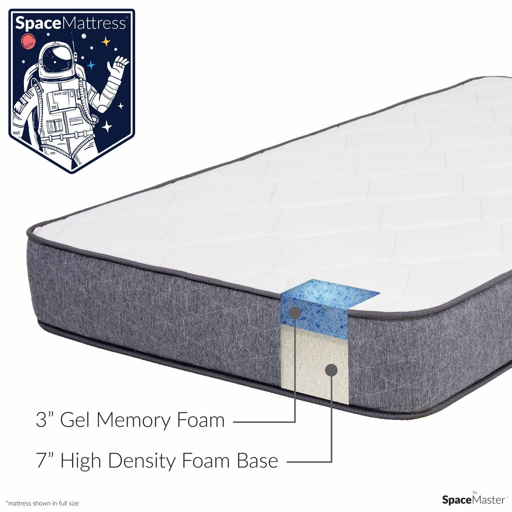 "SpaceMattress - 10"" Gel Memory Foam Mattress by SpaceMaster"