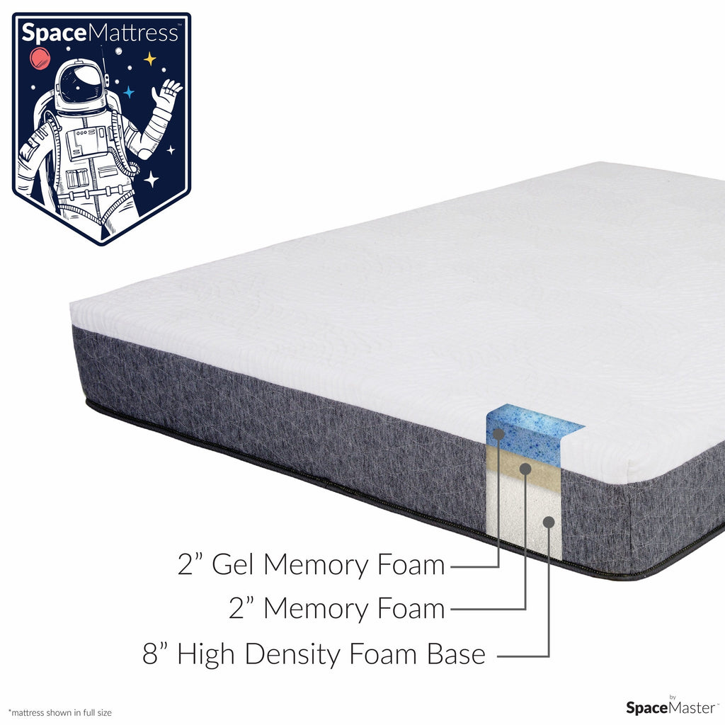 "SpaceMattress - 12"" Gel Memory Foam Mattress by SpaceMaster"