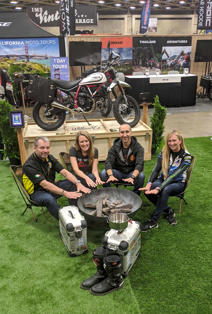Native Moto Adventures from California and Lemon Rock Tours from Ireland partner up at the 2020 International Moto Show