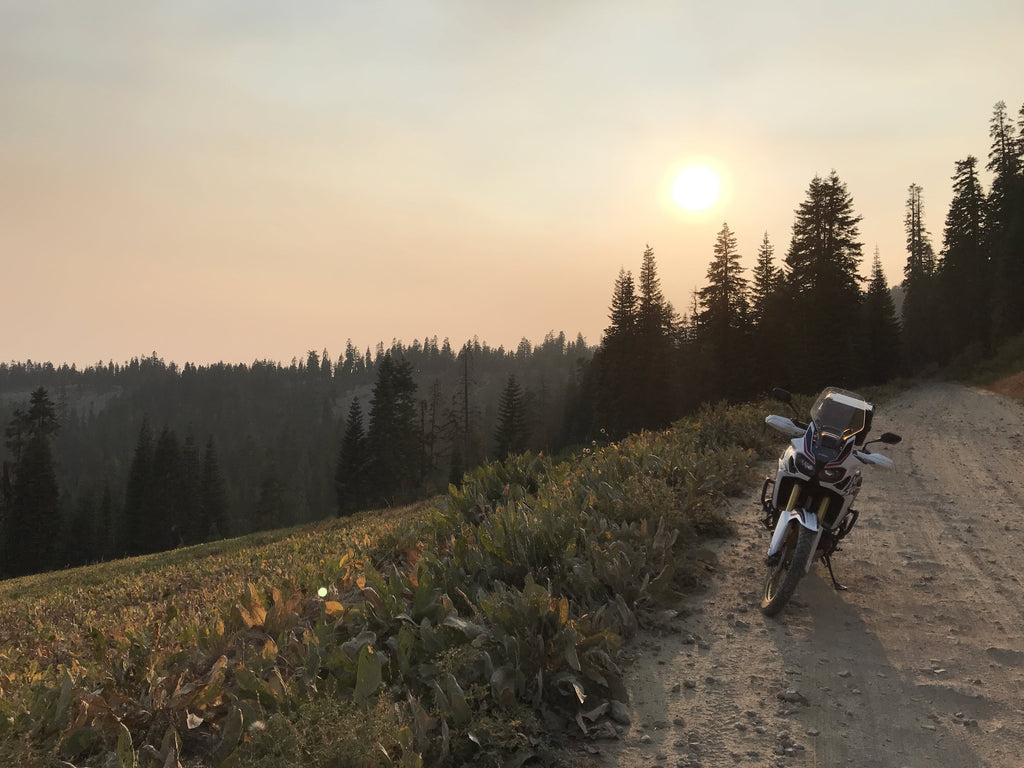 Native Moto Adventures travel above Lake Tahoe off-roading motorcycle Africa Twin