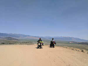 Custom motorcycle adventure tour on a Triumph Tiger 800 and Yamaha MT07 in the California Sierra Death Valley