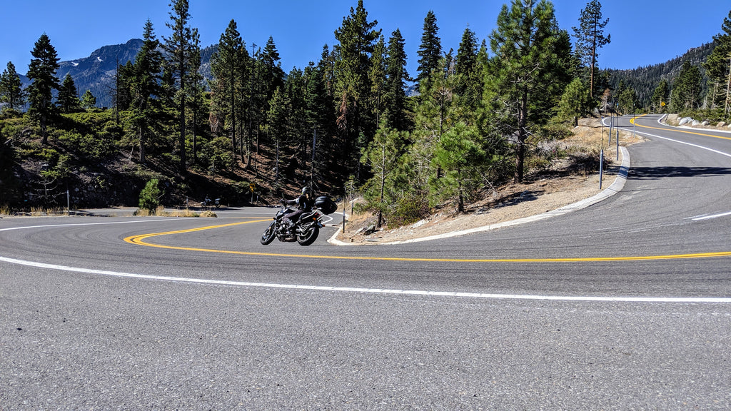 Lake Tahoe forest Emerald Bay motorcycle riding tour Ride Native Moto Adventures