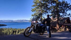 San Francisco motorcycle tours native moto in lake Tahoe on Honda Africa Twin