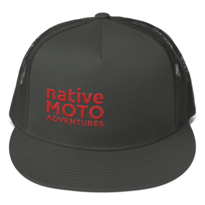 'native moto adventures' mesh trucker cap - Native Moto Adventures