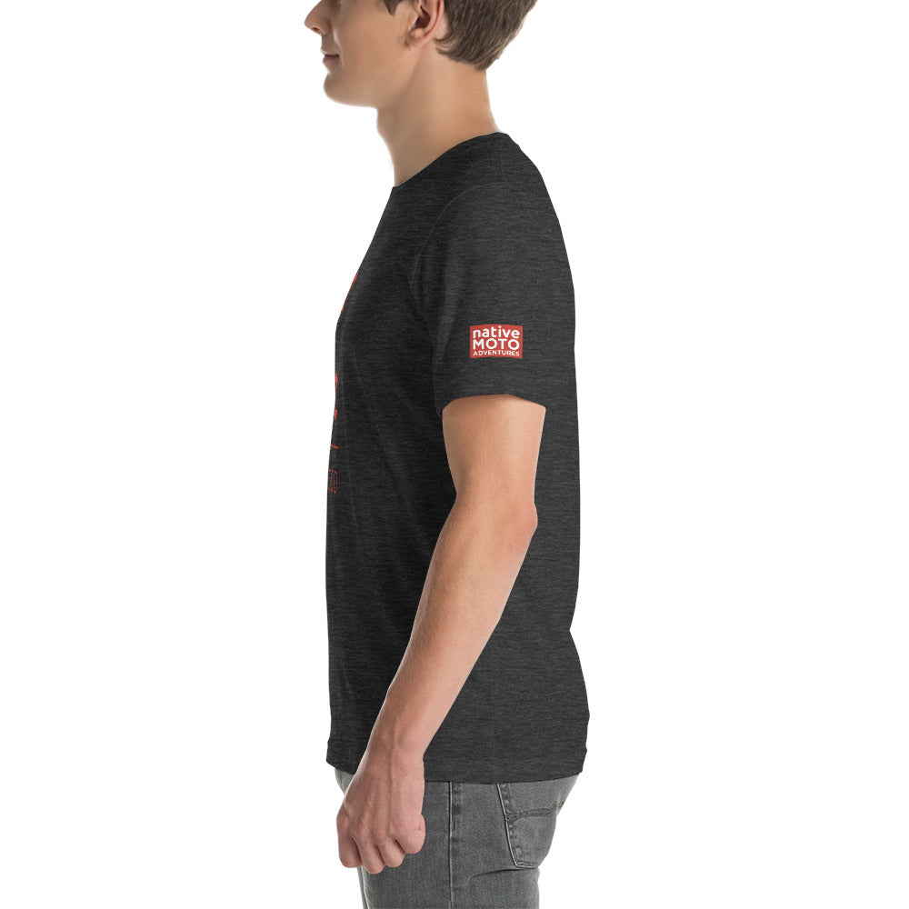 'Ride Native' short-sleeve unisex T-shirt