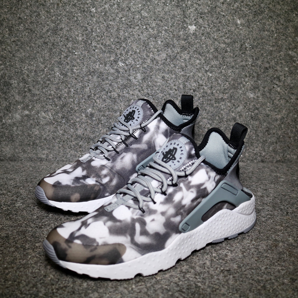 Women's Air Huarache Ultra Print Stealth Black White