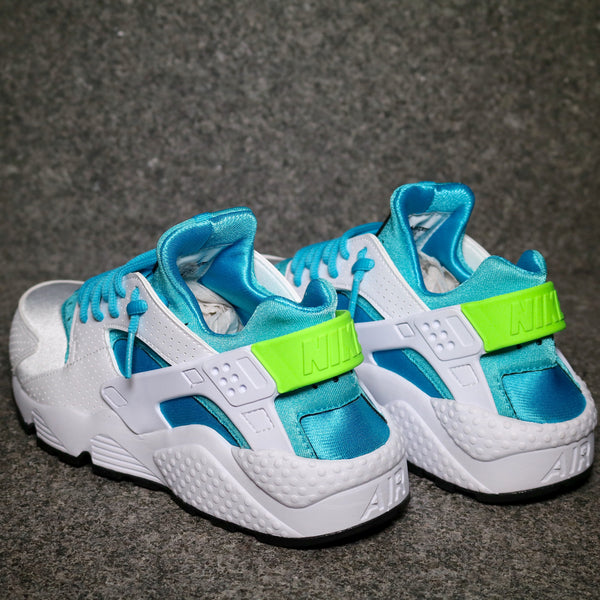 cdb4b2311eae1 ... Rear view of the Nike Air Huarache White Gamma Blue Electric Green at  Solemate Sneakers Sydney