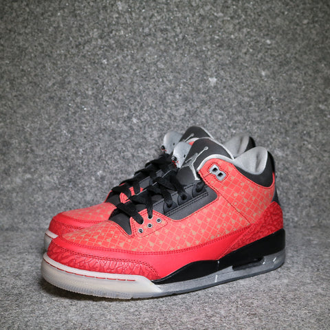 "Air Jordan 3 Retro ""Doernbecher"" Varsity Red Metallic Silver Black"