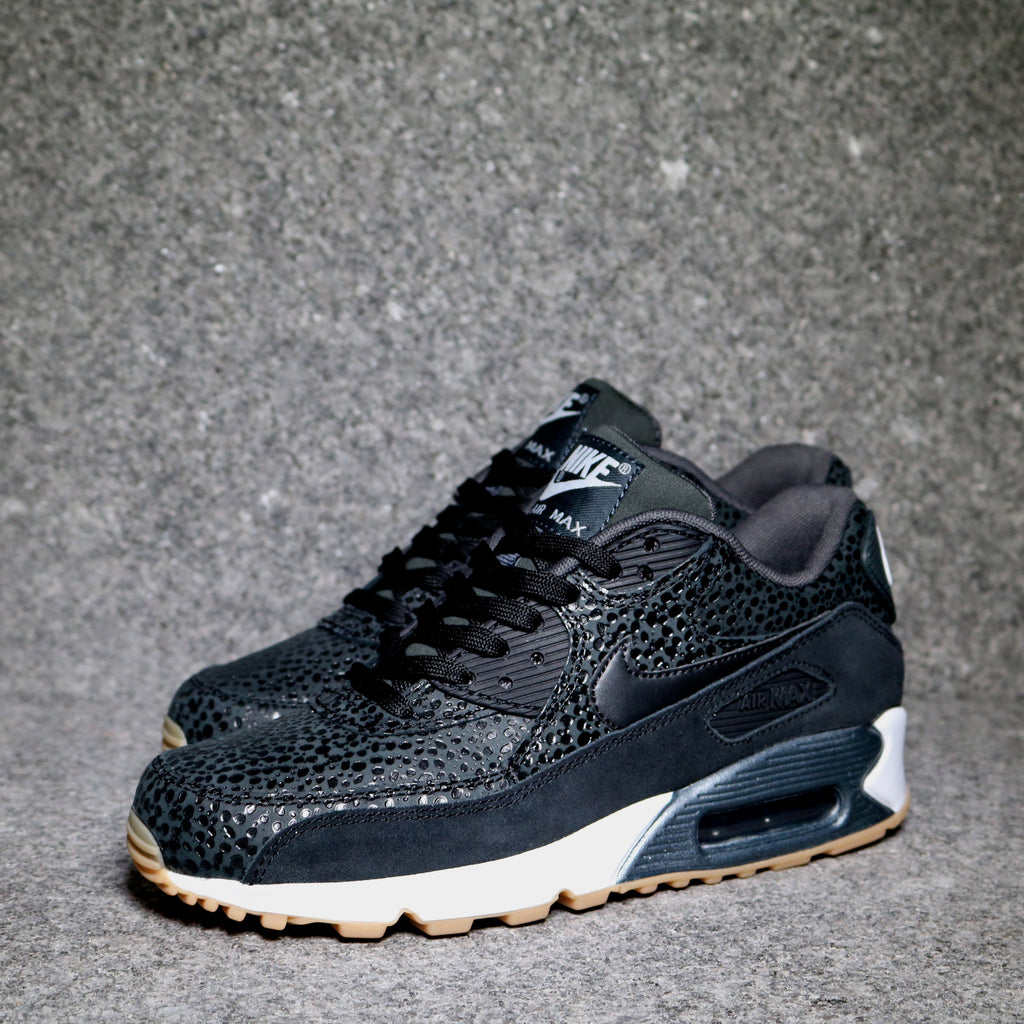 timeless design 5c79b a5f47 ... Women s Air Max 90 Premium Black Black White Gum .