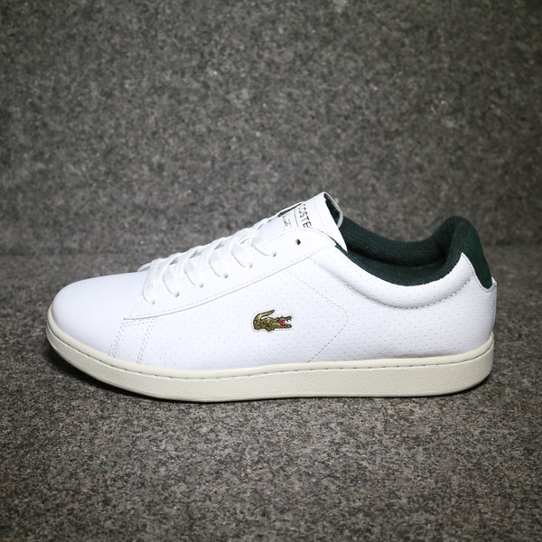 Side view of the Lacoste Carnaby EVO 317 White Green Leather at Solemate Sneakers Sydney