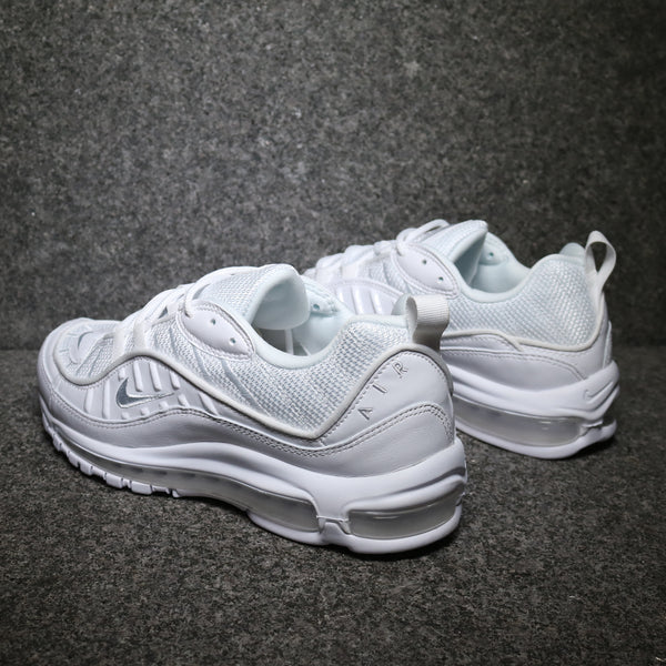 Rear view of the Air Max 98 Triple White at Solemate Sneakers Sydney