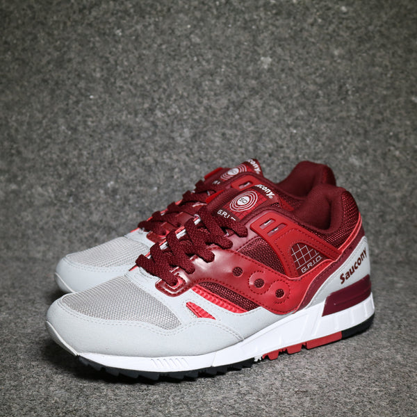 Grid SD Red Burgundy Grey