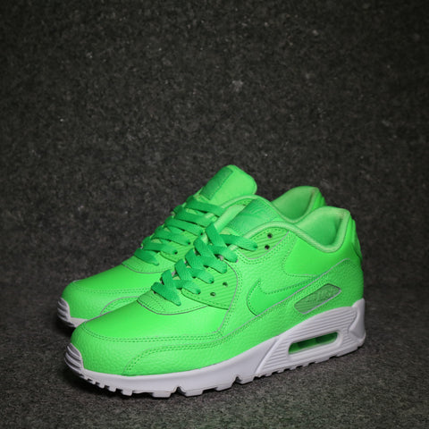 Air Max 90 Leather GS Voltage Green White