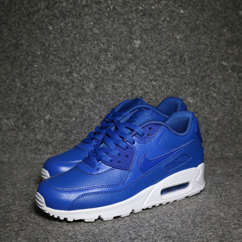 Air Max 90 Leather GS Game Royal White