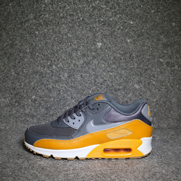 Women's Air Max 90 Dark Grey Stealth Gold White