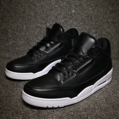"Air Jordan 3 Retro ""Cyber Monday"" Black Black White"