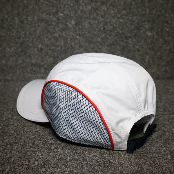 Rear view of the Lacoste Dry Fit Training Cap White at Solemate Sneakers Sydney