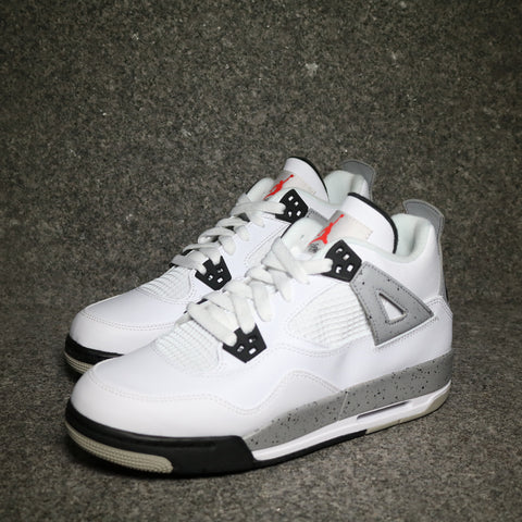 "Air Jordan 4 Retro OG GS ""Cement"" White Fire Red Black Tech Grey"