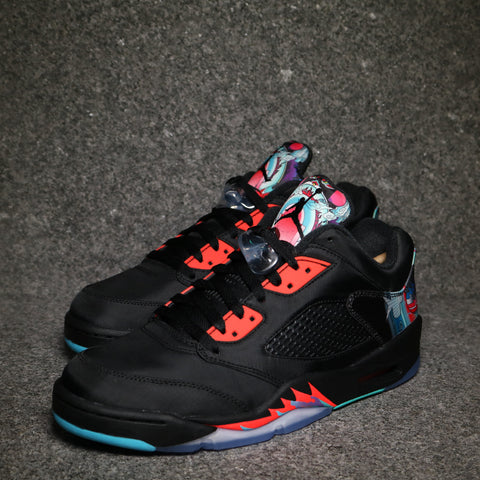"Air Jordan 5 Retro Low ""Chinese New Year"" Black Crimson Hyper Jade"