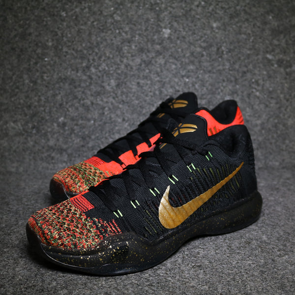 "Kobe X ""Xmas"" Metallic Gold Bright Crimson"