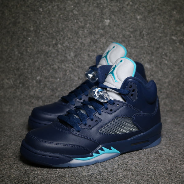 "Air Jordan V retro GS ""Midnight Navy Tropical Blue"""