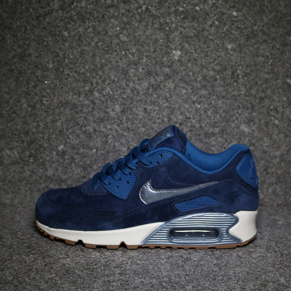 Women's Air Max 90 Premium Suede Midnight Navy Off White Gum
