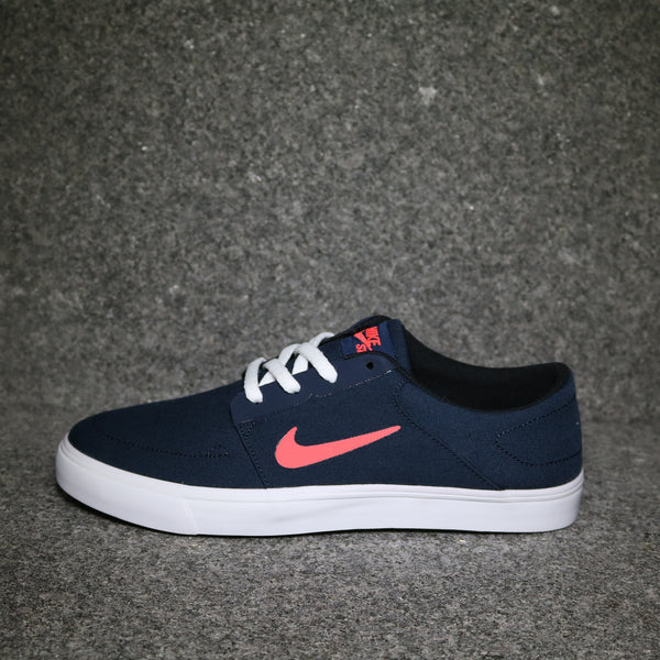 Nike SB Portmore Canvas Obsidian Hot Lava White