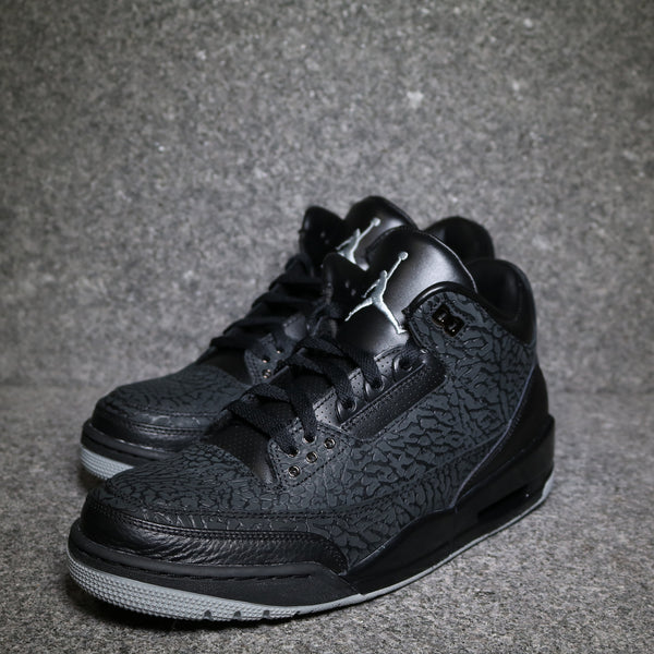 "Air Jordan 3 Retro ""Flip"" Black Metallic Silver"